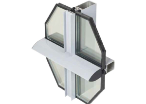 EKU 50 GLASS per facciate continue a montanti e traversi