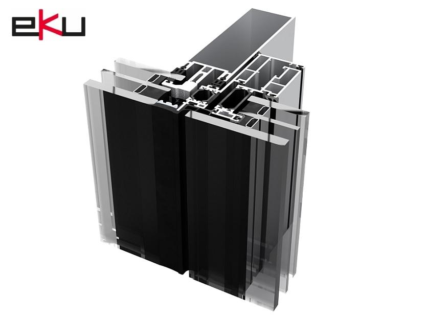 EKU 50 GLASS S facciata strutturale con triplo vetro